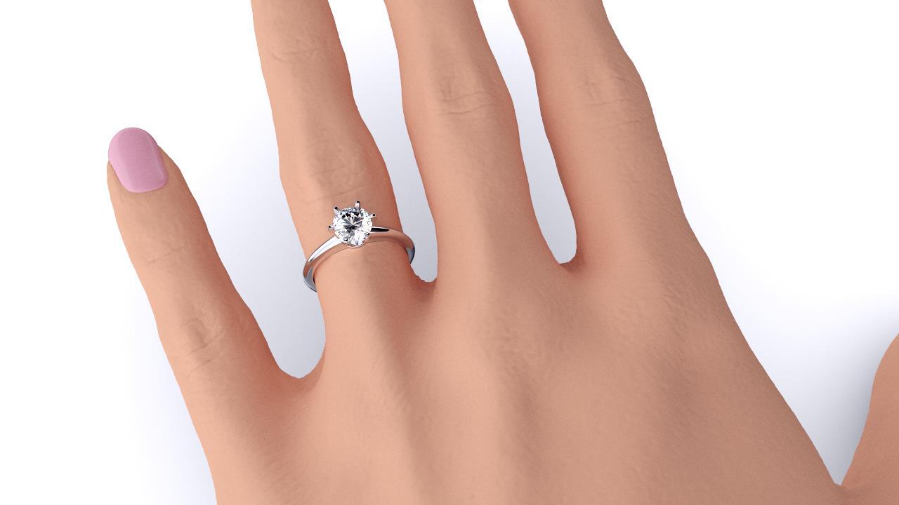 Sydney diamond company round solitaire hand
