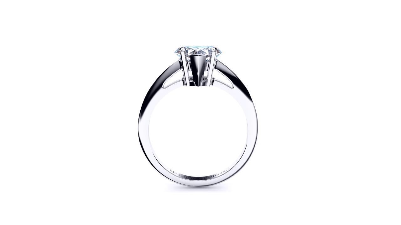 Sydney diamond company classic heart solitaire side