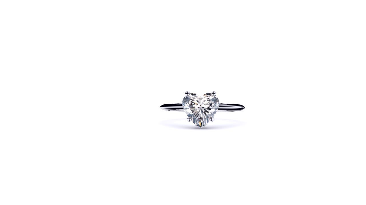 Sydney diamond company classic heart solitaire front