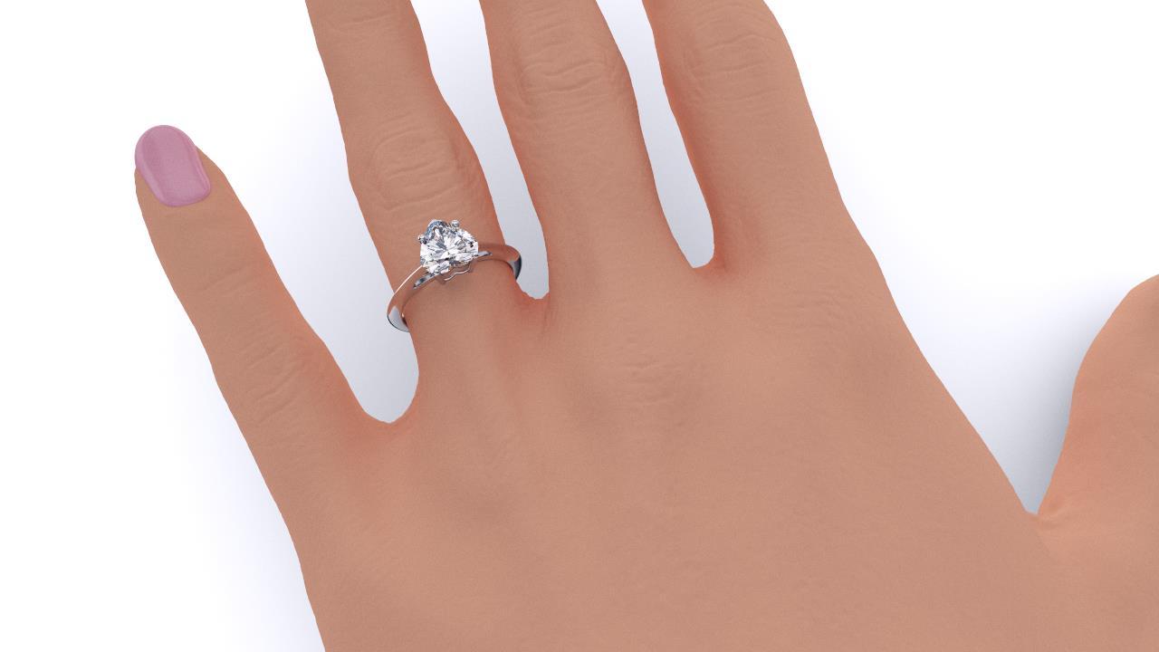 Sydney diamond company classic heart solitaire hand