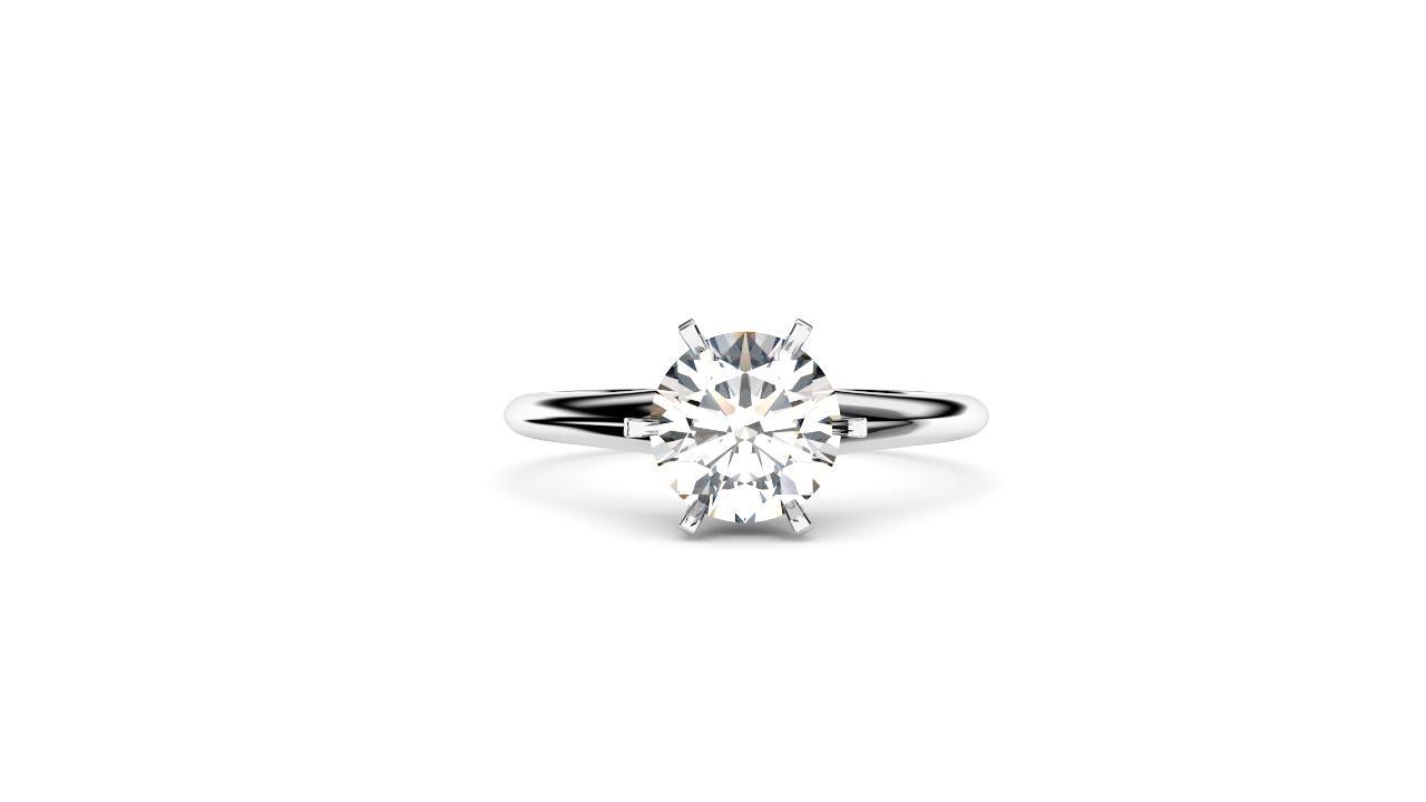 Sydney diamond company round solitaire front