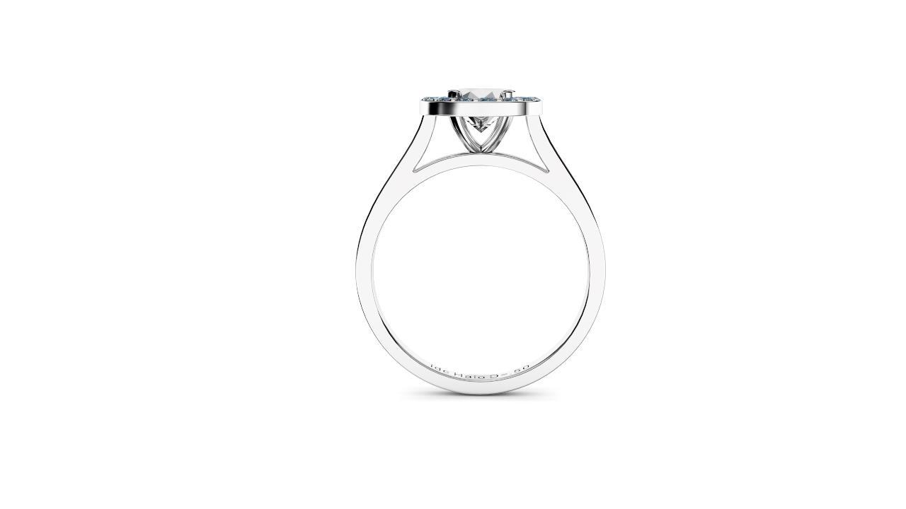 Sydney diamonds engagement ring halo round Diamond Engagement Ring in white gold side