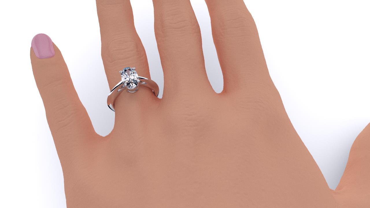 Sydney diamond company classic oval solitaire hand