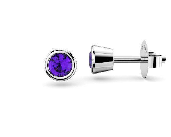Sydney Diamond company stud amethysts earrings