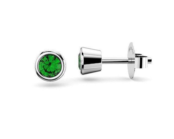 Sydney Diamond company stud tsavorite earrings