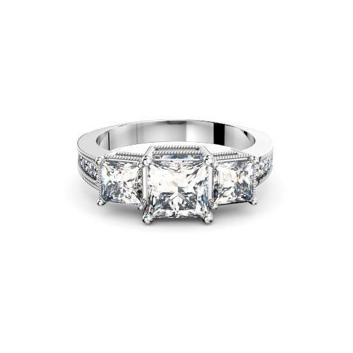 three stone princess diamond engagement ring sydney diamond compan