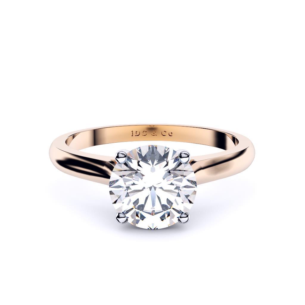 classic princess solitaire engagement ring sydney diamond company